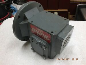 Dayton Right Angle Motor Gearbox Maximum 1hp Input 5 8 Male And Female Shafts
