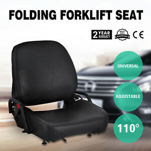 New Universal Folding Forklift Seat Fits Cat Free Shipping Fits Clark On Sale
