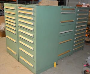 6x Stanley Vidmar 9 10 11 Drawer Tool Cabinet Shop Equipment Storage Box Lot