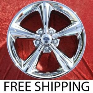 Exchange Set Of 4 New Chrome 18 Ford Mustang Gt Factory Oem Wheels Rims 3834