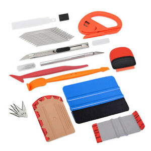 10in1 Pro Vinyl Squeegee Window Tint Car Film Application Wrapping Tools Kit Usa