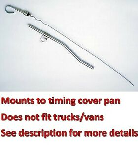 Sbf Chrome Steel Engine Oil Dipstick Ford 260 289 302 347 351w