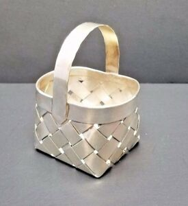 Authentic Cartier Sterling Silver Basket Hand Made Woven Ring Holder Vintage