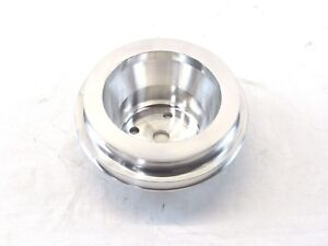 Big Block Chevy 454 Aluminum Long Water Pump Pulley 2 Groove Polished Bpe 5003p