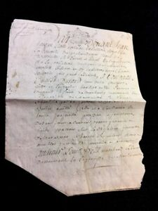 Antique Parchment 1744
