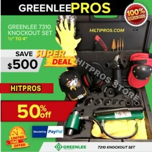 Greenlee 7310 Sb Knockout Set 1 2 To 4 New Free Grinder Quick Shipping