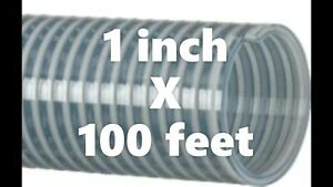Kanaflex 110 Cl1 1 Inch Water Suction Hose Clear Pvc 100 Ft Roll