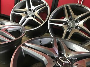 Mercedes 18 Inch C63 New Rims Wheels 18 8 5 18 9 5 Set 4 Fit C250 C300 C350 Amg
