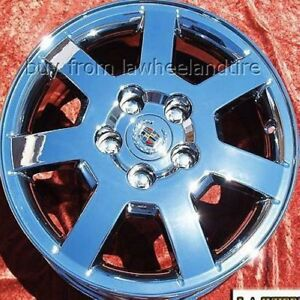 Set Of 4 Chrome 16 Cadillac Cts Oem Wheels Rims Deville Seville Sts Dts 4555