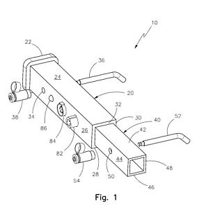 Patent For Sale Or License hitch Receiver Security System Us Patent 7889062