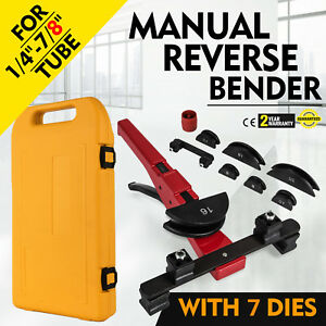 Multi Manual Pipe Tube Bender Tool Kit 1 4 7 8 With 7 Dies Cutter Metal Pvc