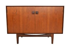 Small Refinished Teak Credenza By Ib Kofod Larsen For G Plan 4