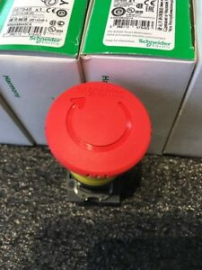 Schneider Electric Emergency Stop Push Button plastic red Xb5as8442 Red 22mm