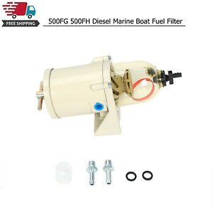 New 500fg 500fh Diesel Marine Boat Fuel Filter Water Separator W Bolt Ring
