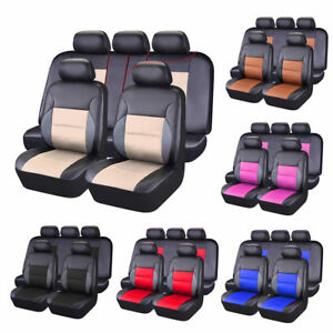 Carpass Universal Car Seat Covers Pvc Leather Full Set Seat Covers Front