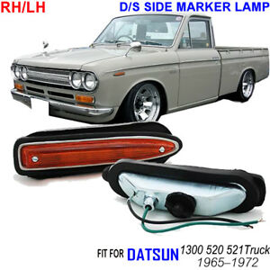 Datsun 1300 520 521 Truck Ute Pickup J13 Pair Side Marker Light Turn Signal Lamp