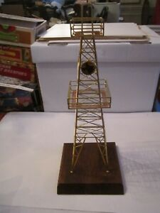 New Gold Plated Oil Well Oil Derrick 14 Tall Decorative Retails 225 00