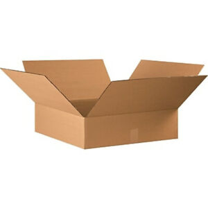 20 22 X 22 X 4 Corrugated Shipping Boxes Storage Cartons Moving Packing Box