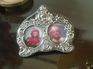 Antique Sterling Silver Double Photo Frame