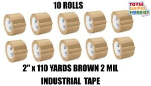 10 Rolls Of Uline 2 Mil Industrial Packing Shipping Tape 2 X 110 Yards Brown