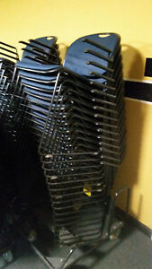 Used Conference Room Chairs Lot Of 20 Stacking With Arms Chair Trolley Incl