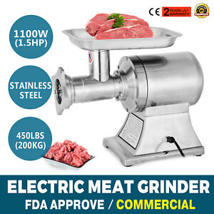 1 5hp 1100w Commercial Meat Grinder Sausage Stuffer 2 Knives Stuffer Electric