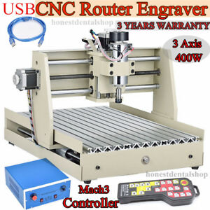 Usb 3 Axis 3040 Cnc Router Engraver Engraving Milling Machine Mach3 Controller