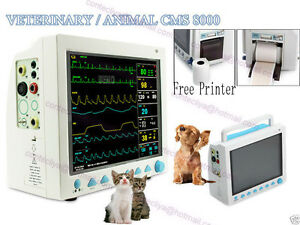 Hot Sale Ce fda Veterinary Icu Vital Signs Patient Monitor 6 Parameters printer