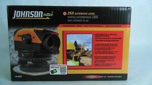 Johnson 26x Automatic Level Professional Series 40 6926 Rotary New In Open Box
