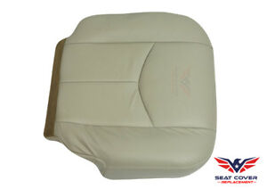 2003 To 2006 Chevy Tahoe Suburban Front Driver Bottom Leather Seat Cover Tan 522