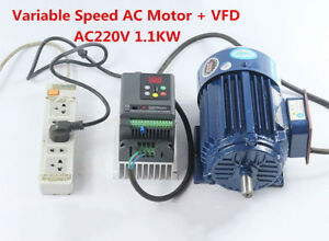 Variable Speed Ac Motor Low Rpm Motor Vfd Inverter Ac220v 1 1kw 600 2800rpm