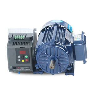 Ac220v 1 1kw Low Rpm Motor Variable Speed Ac Motor Vfd Inverter 300 940rpm New