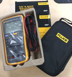 New Fluke Digital Multimeter F18b Led Tester 18b Voltmeter With Fluke Bag