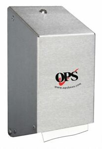 Ops Green Proprietary Multifold Manual Paper Towel Dispenser Stainless Steel