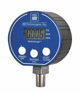 Ssi 0 To 30 Psi Digital Pressure Gauge 3 Dial 1 4 Mnpt Connection Plastic