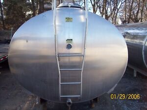 6000 Gallon Stainless Steel Horizontal Bulk Milk Food Grade Tank Storage Only