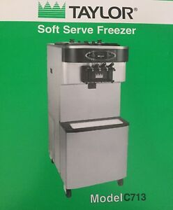 Ice Cream Machine Taylor C713 33 Soft Serve Twin Twist Frozen Yogurt