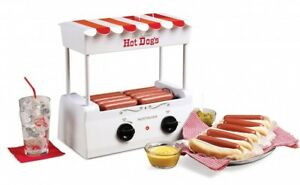 Hot Dog Roller Bun Warmer Vintage Electric Stainless Steel Grill Retro Cooker