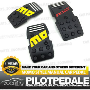 3pcs Black Universal Racing Non Slip Metal Manual Car Pedals Pad Lw13