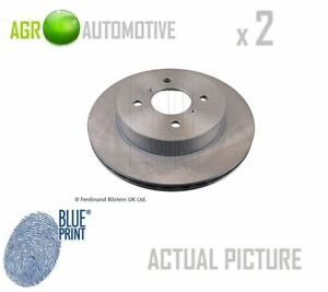 2 X Blue Print Front Brake Discs Set Braking Discs Pair Oe Replacement Adk84315
