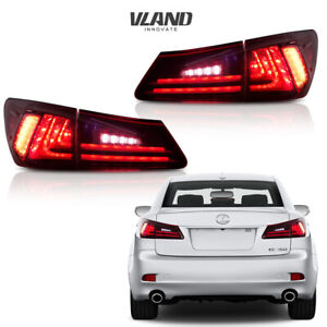 Fit For Lexus Is250 Is350 2006 2008 Tail Lights Led Red Lens Rear Lamp Assembly