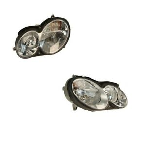 Kit Of Left And Right Headlights Assembly Hella For Mercedes W209 Clk350 Clk320
