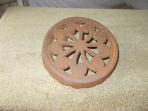 Vgt Cast Iron Ornate Flower Trivet Stove Top Grate Cover Vent