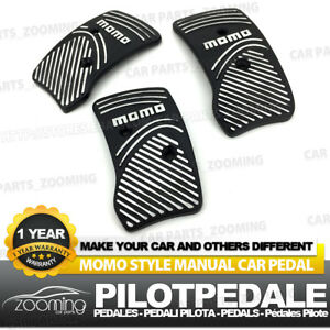 3pcs Black Universal Racing Non Slip Metal Manual Car Pedals Pad Lw34