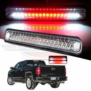For 88 98 Chevy Silverado Gmc Sierra Chrome Clear Led 3rd Brake Light Cargo Lamp