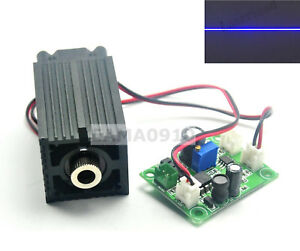 Blue 450nm 100mw Focusable Line Laser Module W ttl driver long time Working Gd