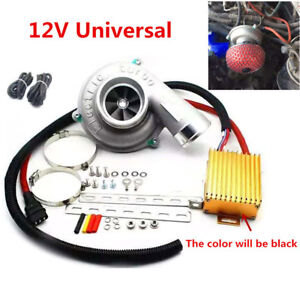 Car Bikes Electric Turbocharger Turbo Air Filter Intake Superchargers Universal