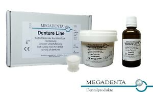 Dental Denture Direct Reline Self Cure Hard Resin Acrylic Germany Powder Liquid