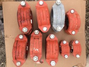 Lot Of Gruvlok Roughneck 7005 And Victaulic Roustabout 99n Couplings
