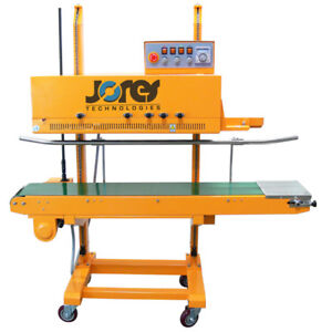Continuous Plastic Bag Band Sealing Machine Semi auto 1010cn Sealer 110v